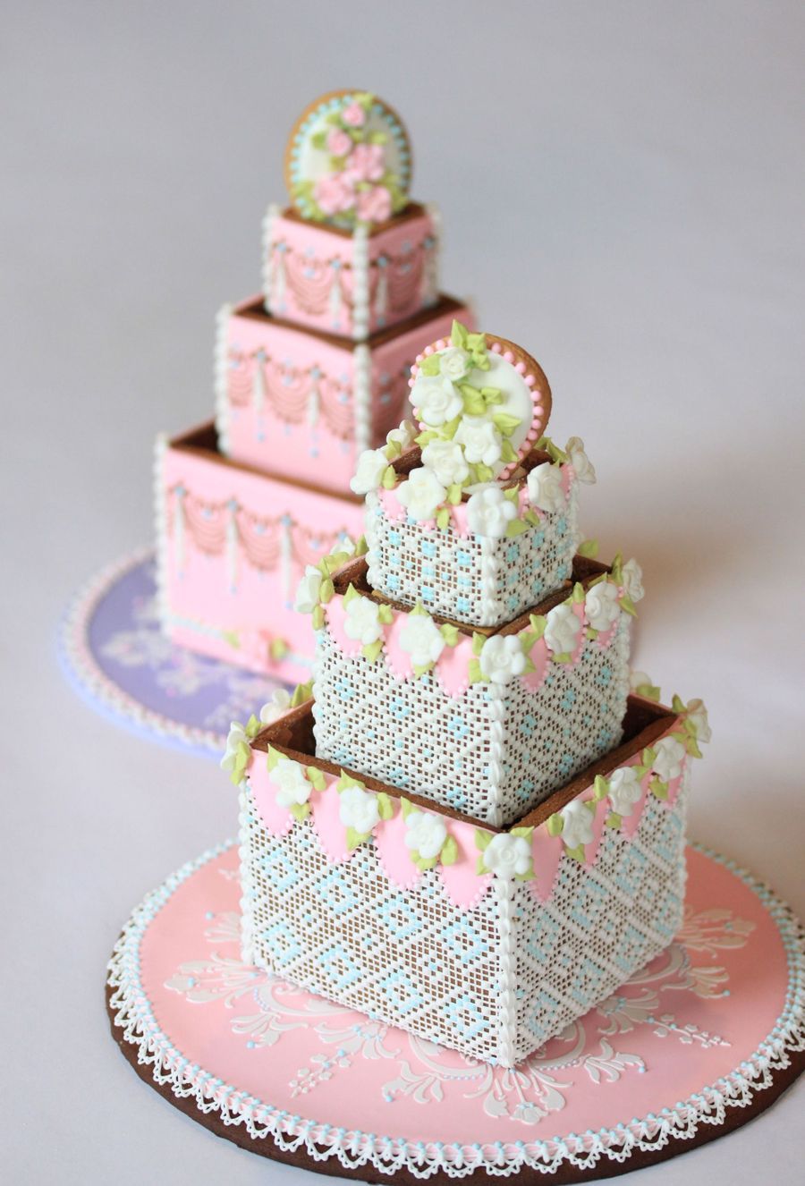 Cookie Wedding Cake In Needlepoint Style on Cake Central