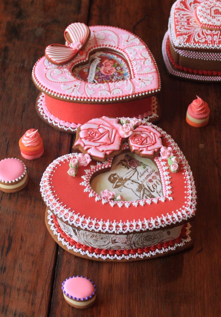 Valentine's Day Cookie Boxes By Julia M. Usher on Cake Central