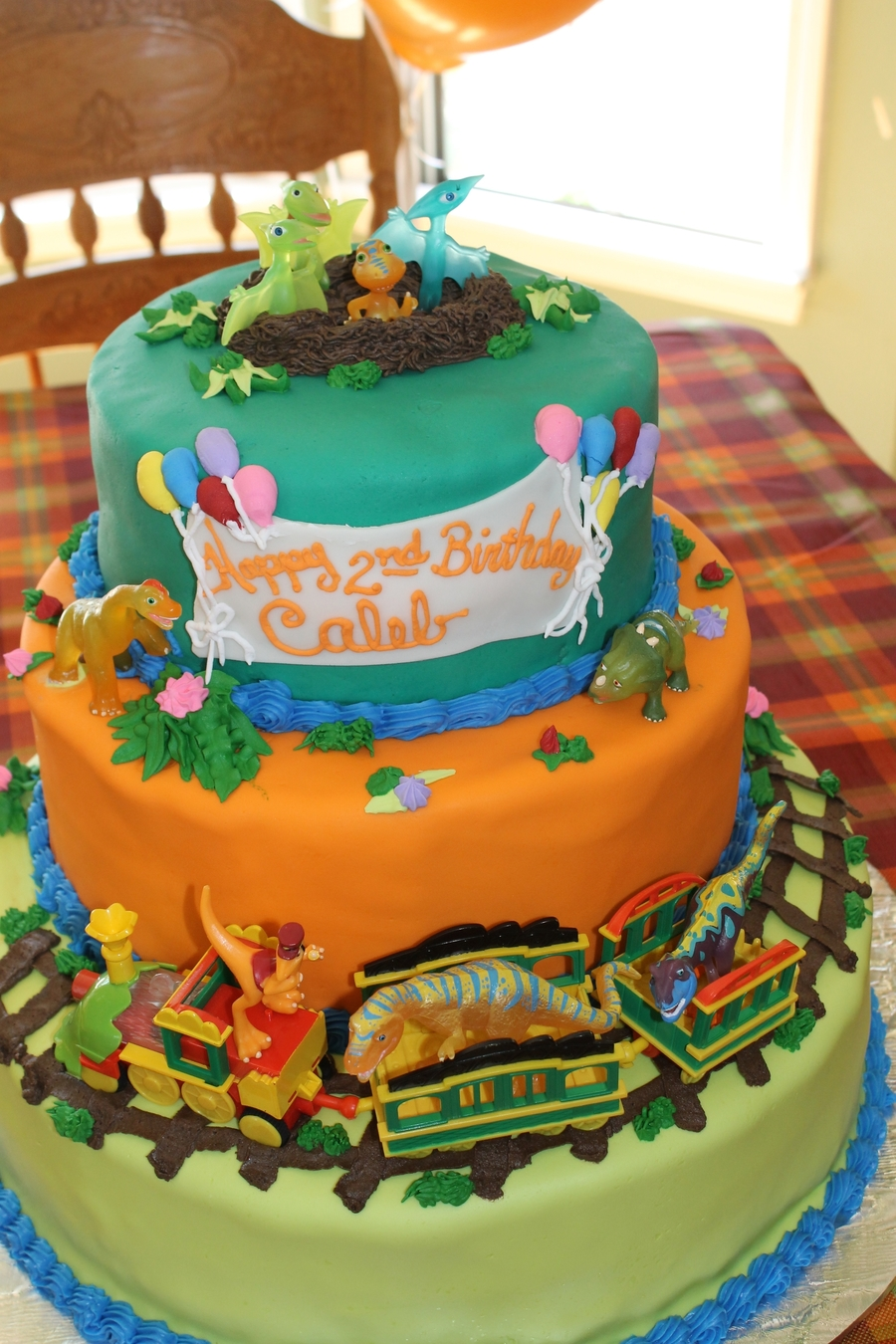 Magnificent Dinosaur Train Birthday Cake Cakecentral Com Personalised Birthday Cards Veneteletsinfo