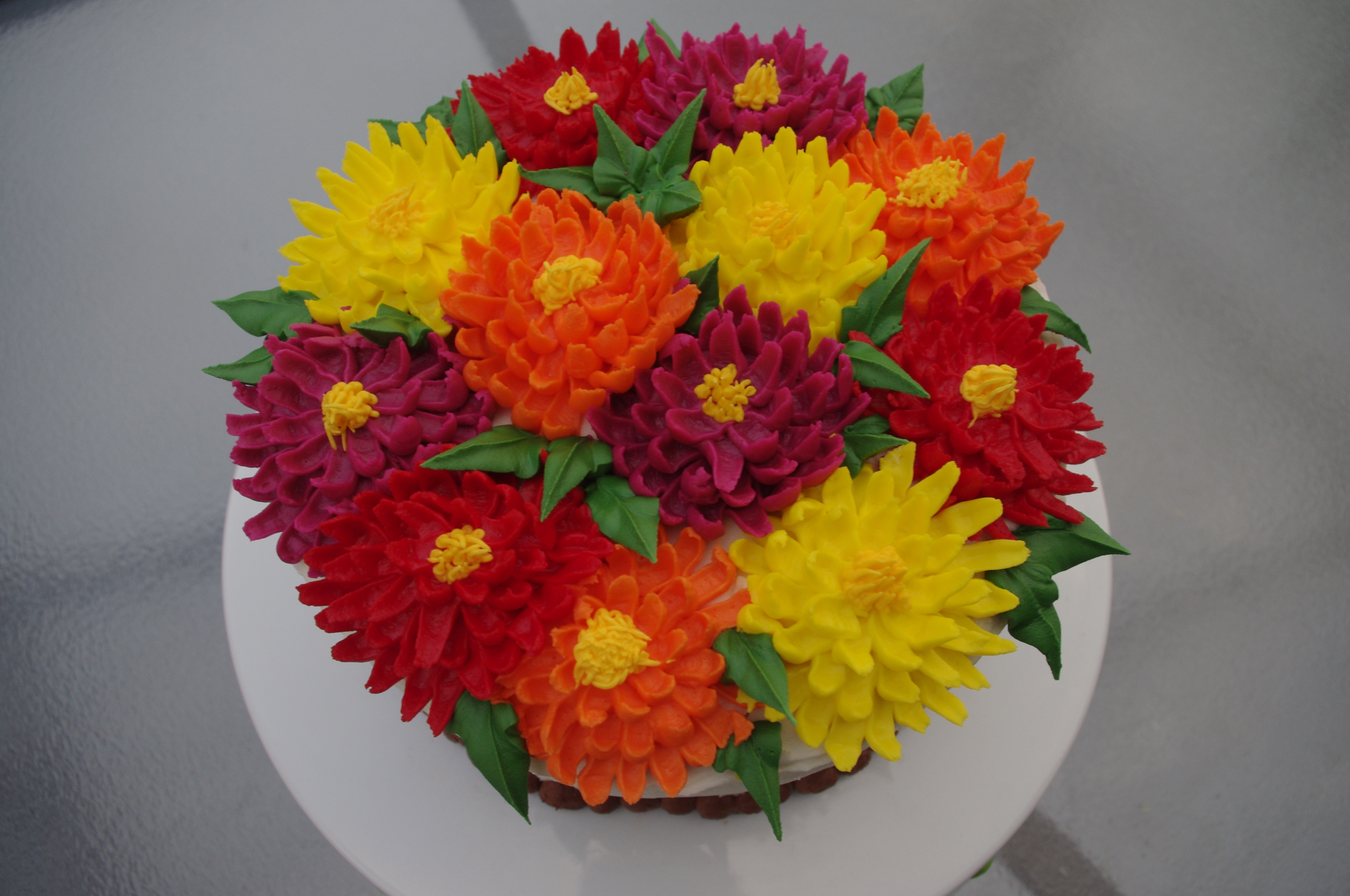 Chrysanthemum birthday cake cakecentral made this cake for 2 dear friends according to the language of flowers the chrysanthemum means youre a wonderful friend as well as cheerfulness and dhlflorist Images
