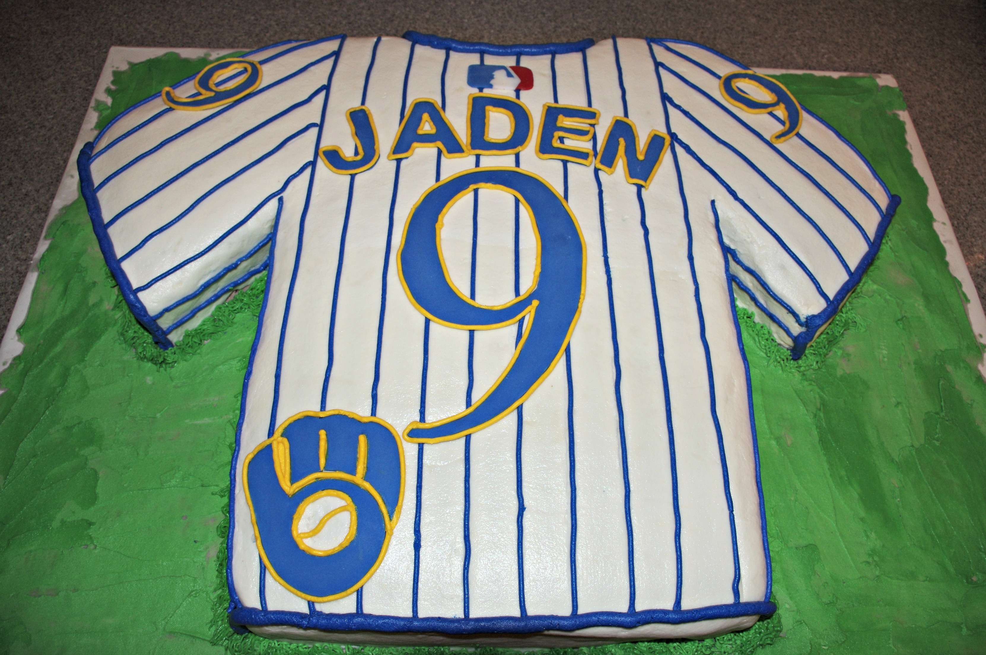 Cool Milwaukee Brewers Jersey Birthday Cake Cakecentral Com Funny Birthday Cards Online Sheoxdamsfinfo
