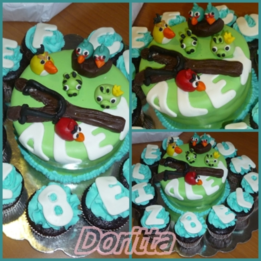 My Nephew Ask Me About An Angry Birds Cake For His Birthday And Here Is Vanilla Cake With Peanut Butter Filling Covered With Fondant Fig on Cake Central
