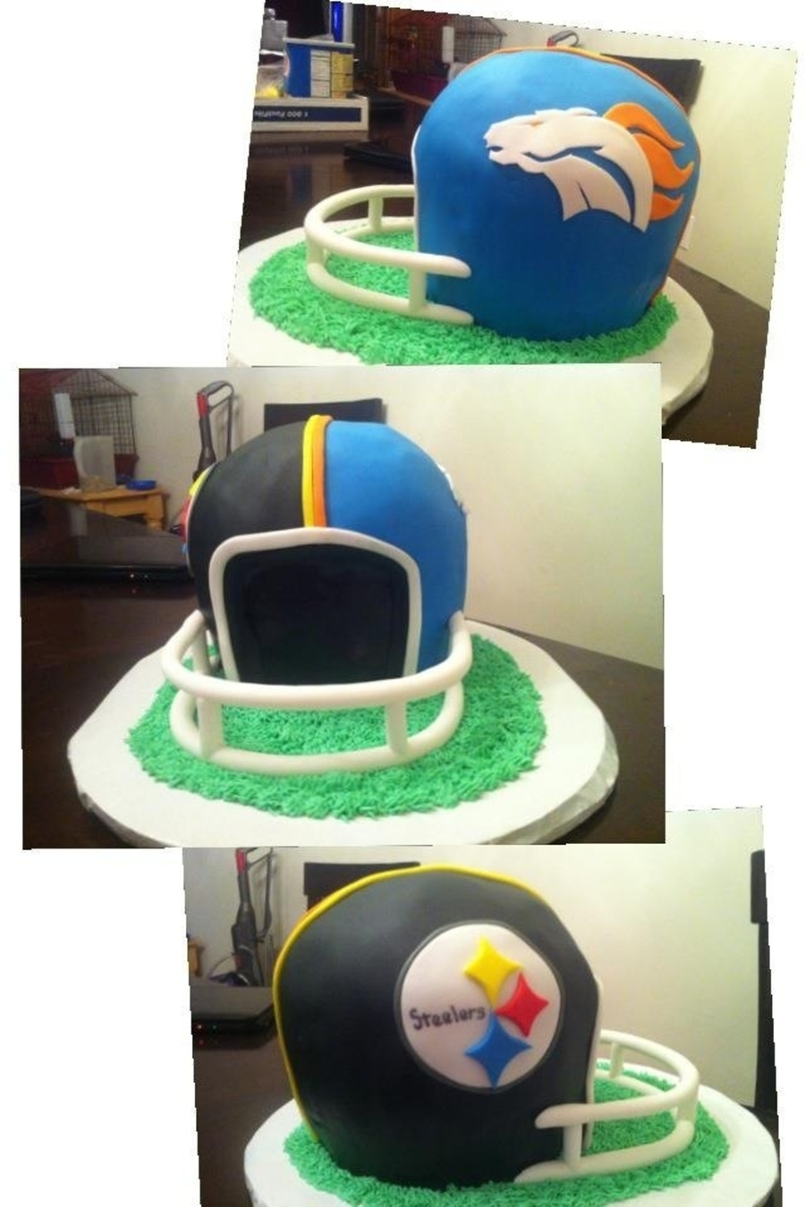 Steelers/broncos Cake on Cake Central