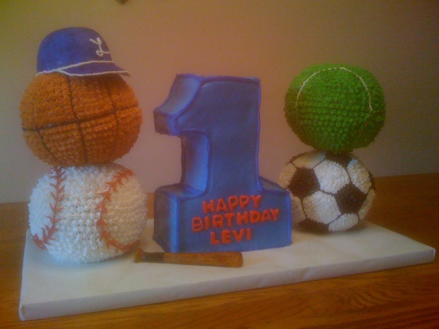 First Birthday Sports Cake on Cake Central