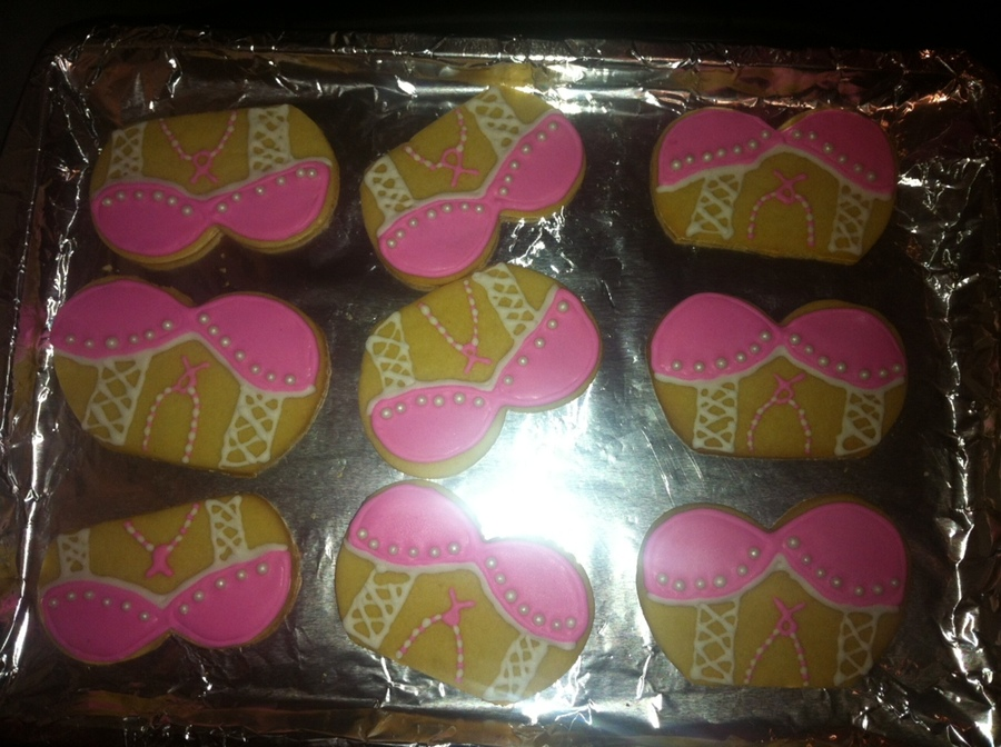 Breast Cancer Cookies  on Cake Central