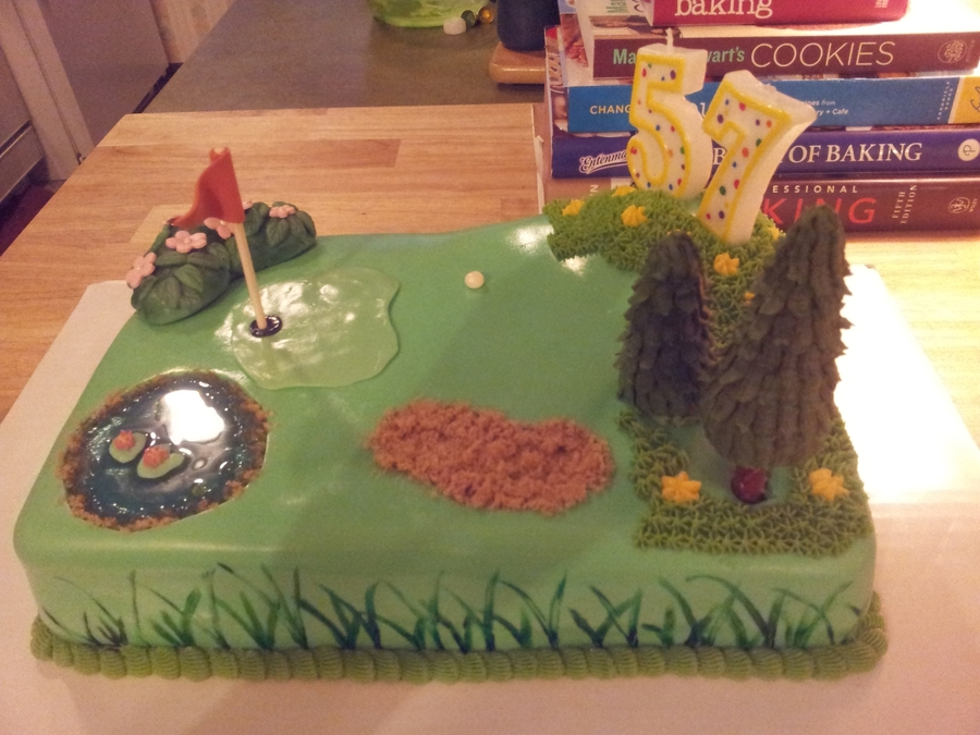 Golf Course Birthday on Cake Central