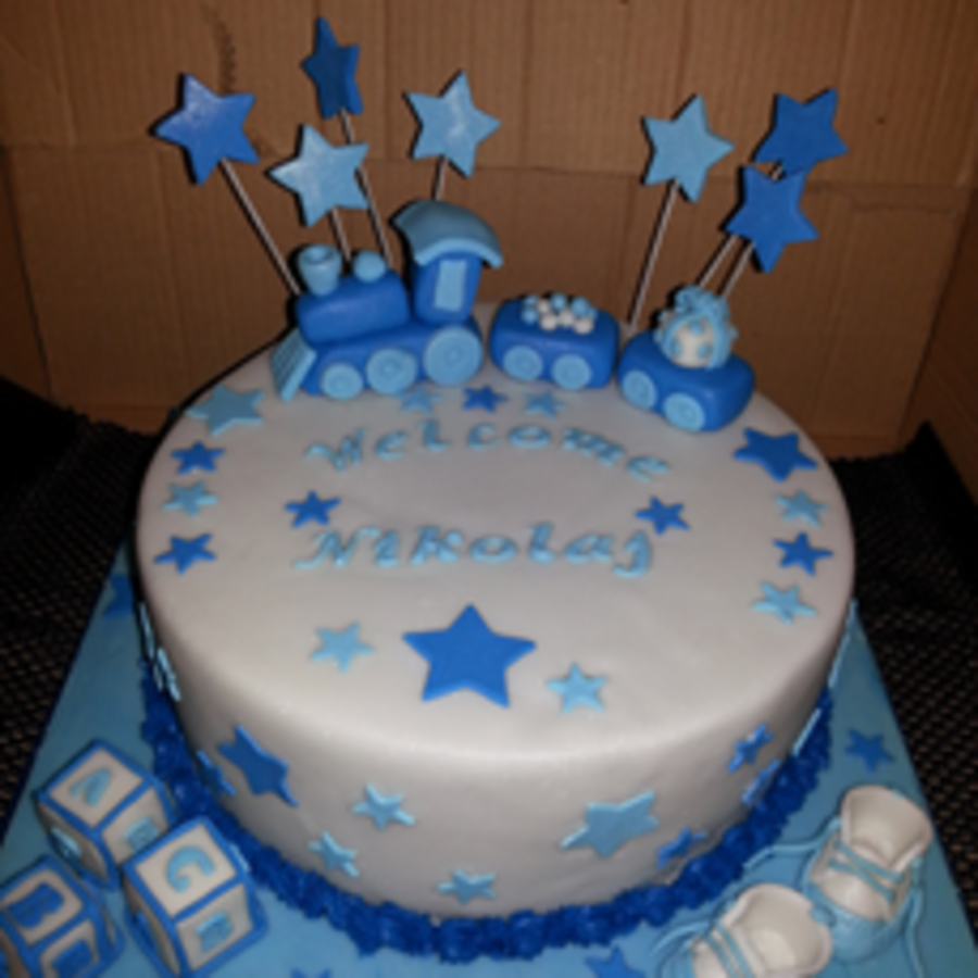 Nephews Welcome Birth Cake