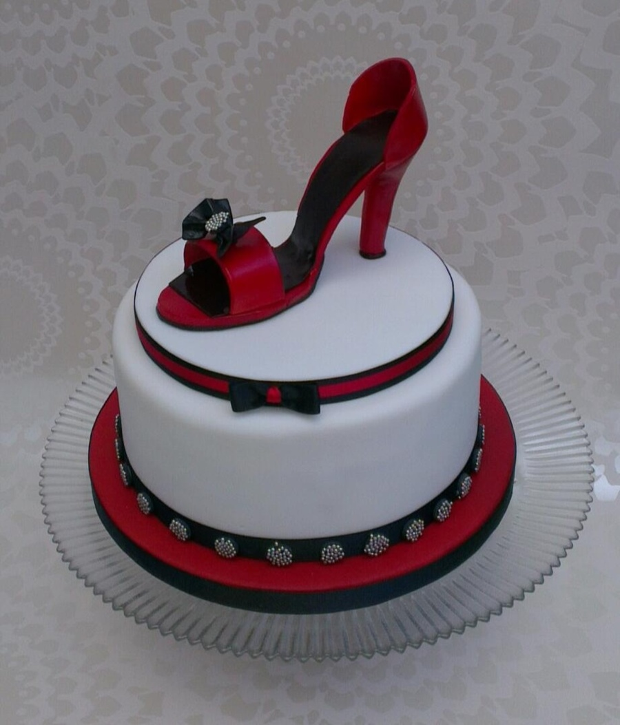 Shoe Birthday Cake Designs