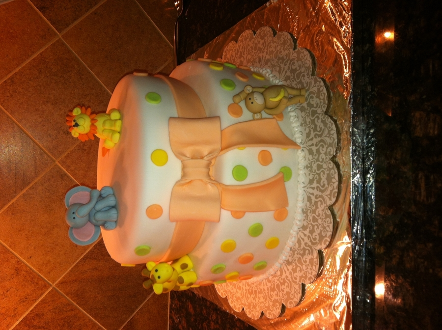 Baby Shower Cake In Fondant And Gum Paste on Cake Central