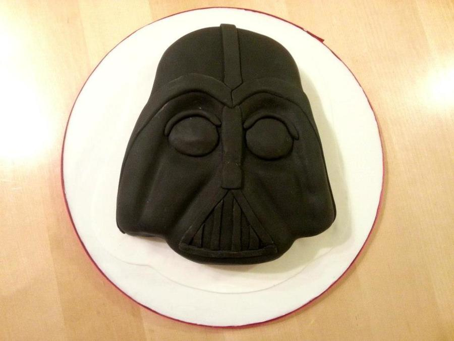 Darth Vader Cake Made For A Star Wars Fan Loved Making This  on Cake Central