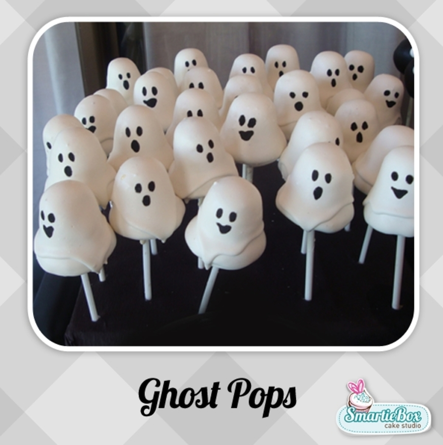 Ghost Pop Cakes