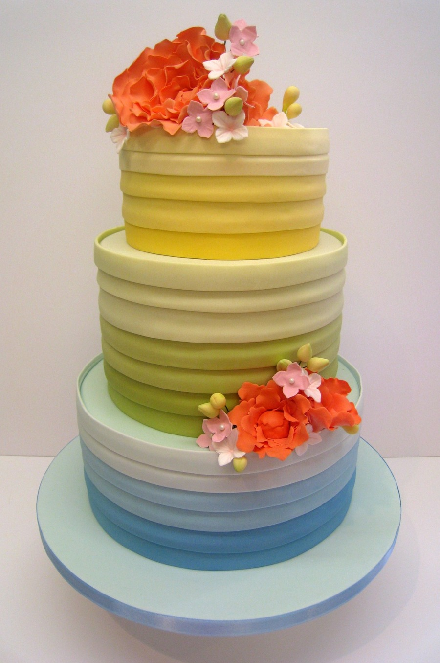 Rainbow Colours Wedding Cake For A Bride Having A Rainbow Themed ...