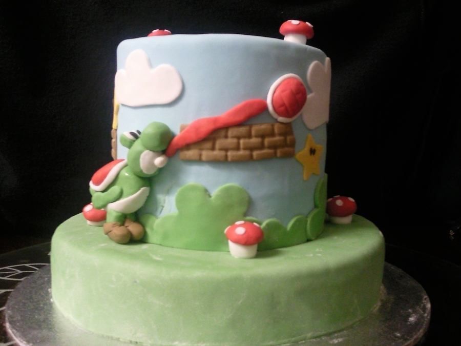 Super Mario Bros Birthday Cake on Cake Central