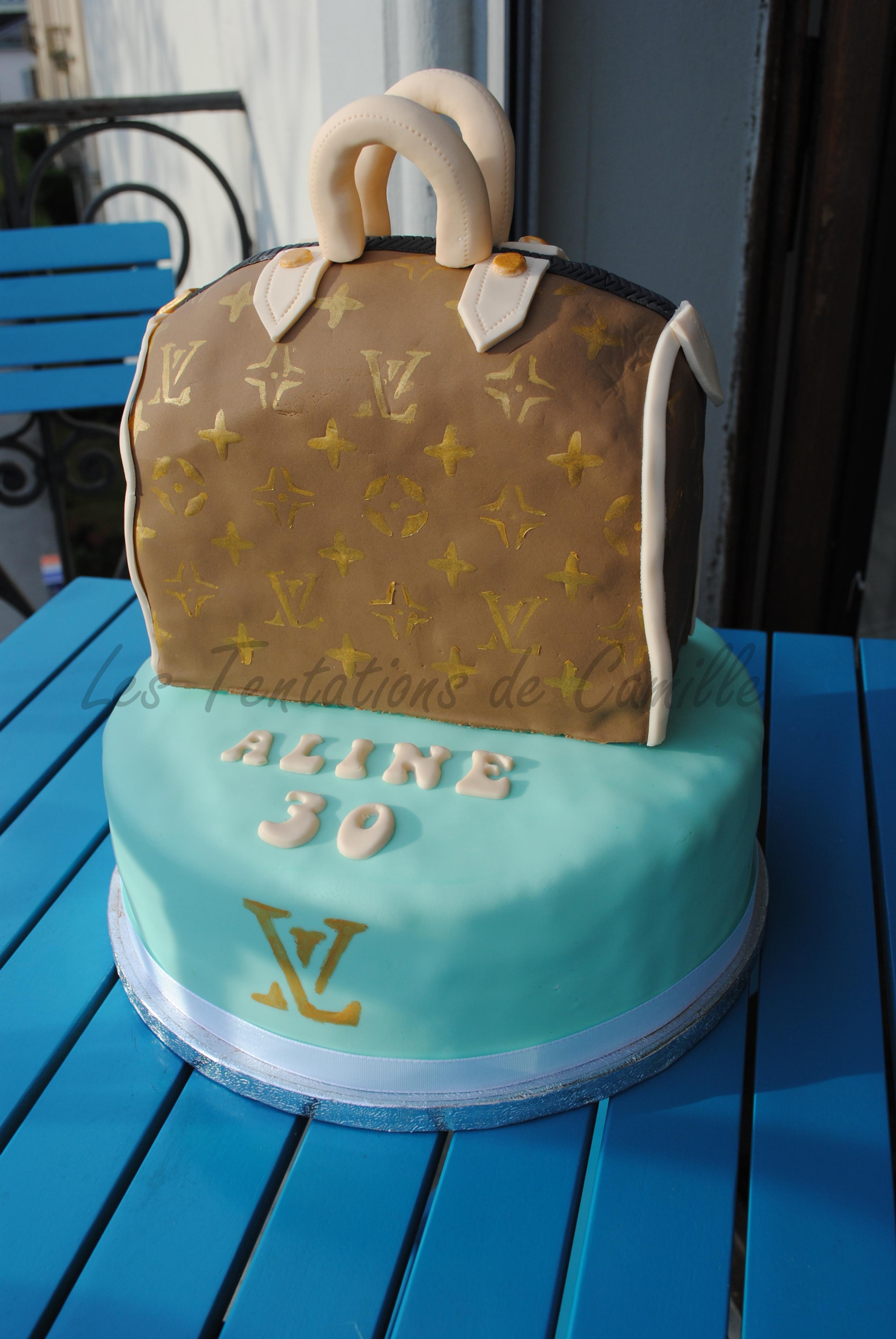 Louis Vuitton Bag Cake   CakeCentral.com
