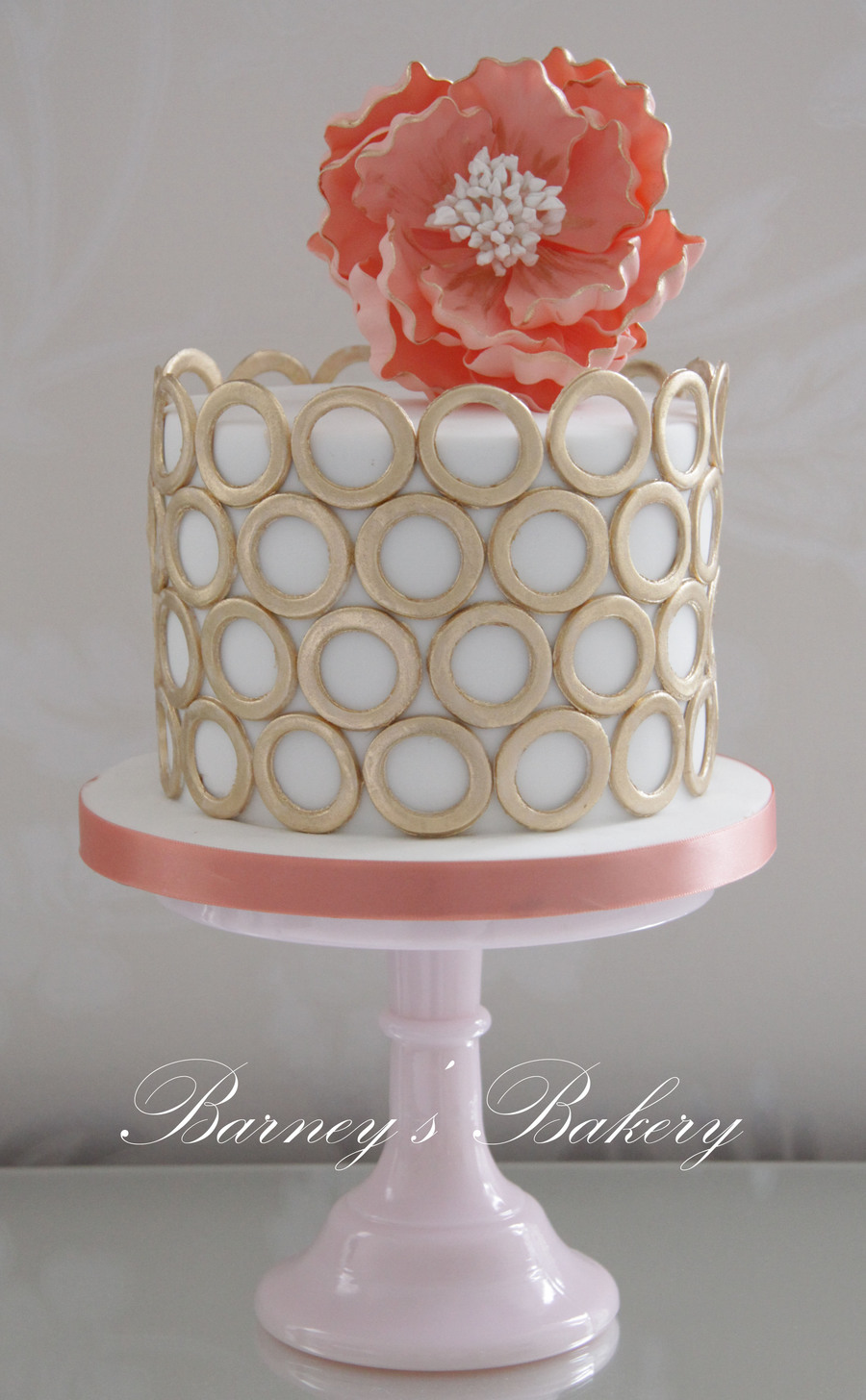 I Love Peach And Gold And When Im Given Artistic License With An Order on Cake Central