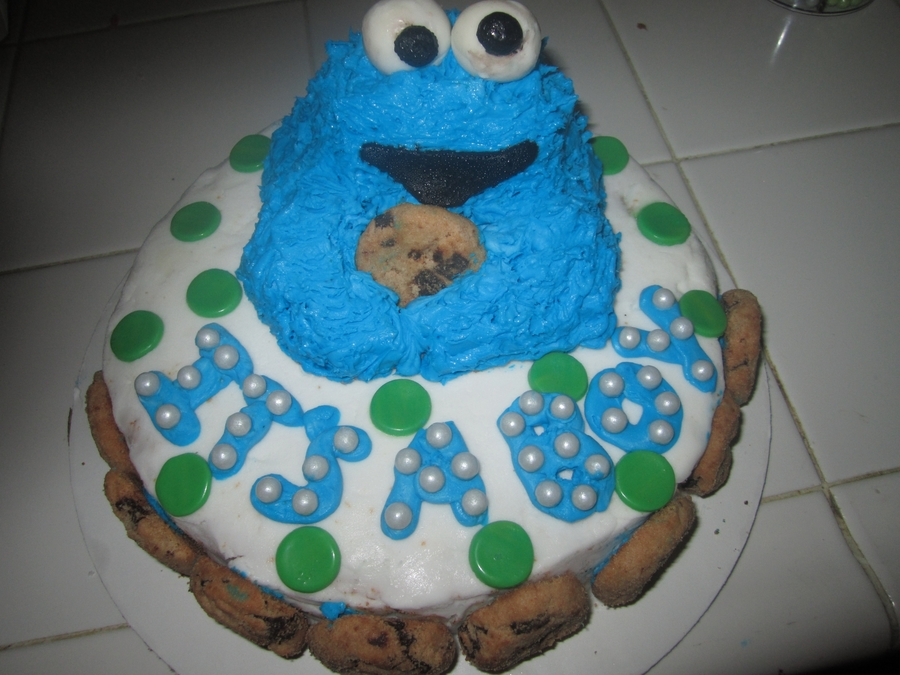 Cookie Monster Baby Shower Cake On Cake Central