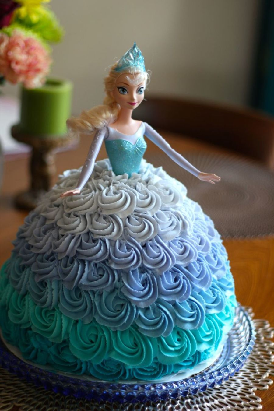 Elsa Doll Cake For A Frozen Themed Birthday Party