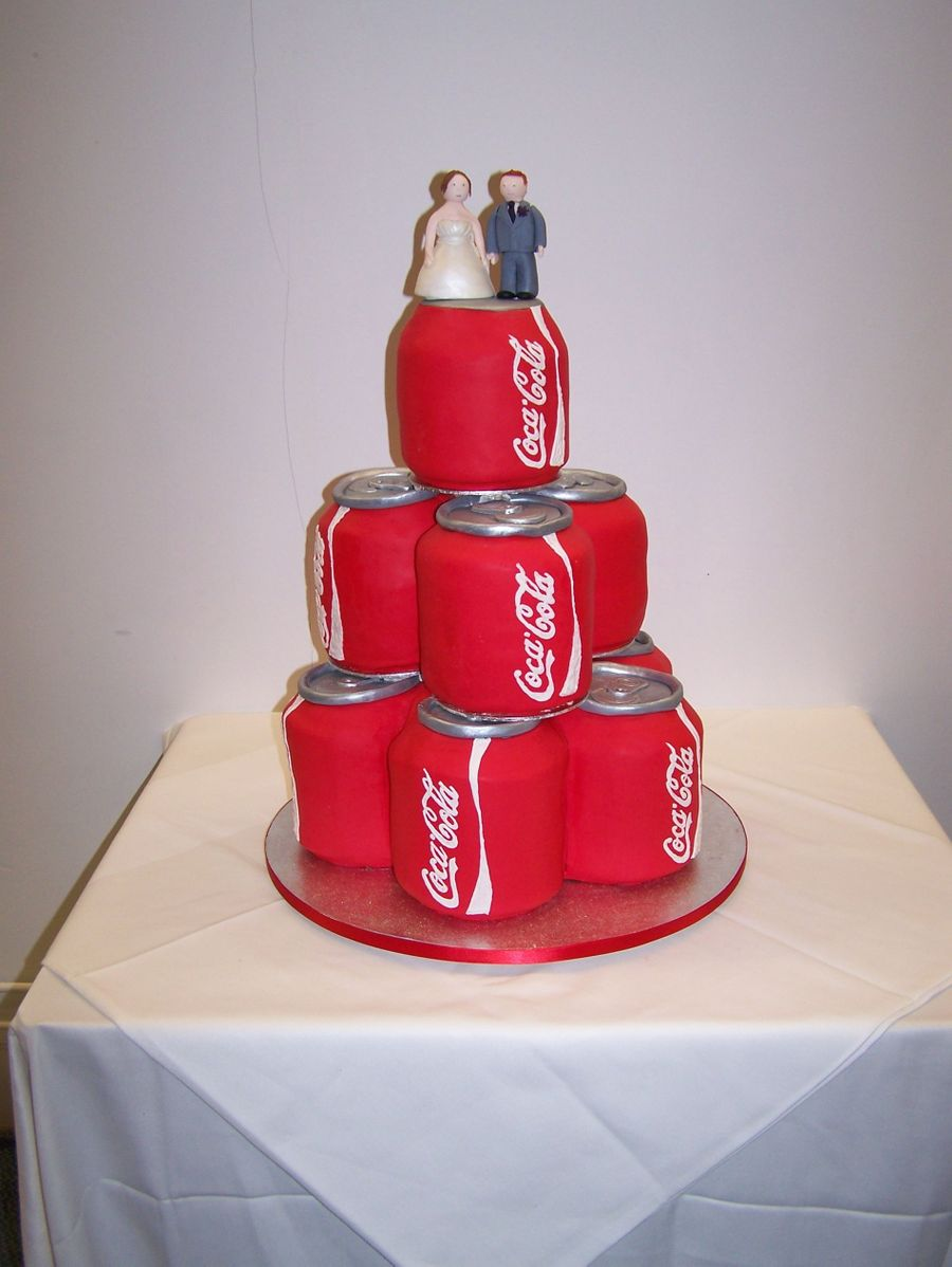 Drinks Can Wedding Cake on Cake Central