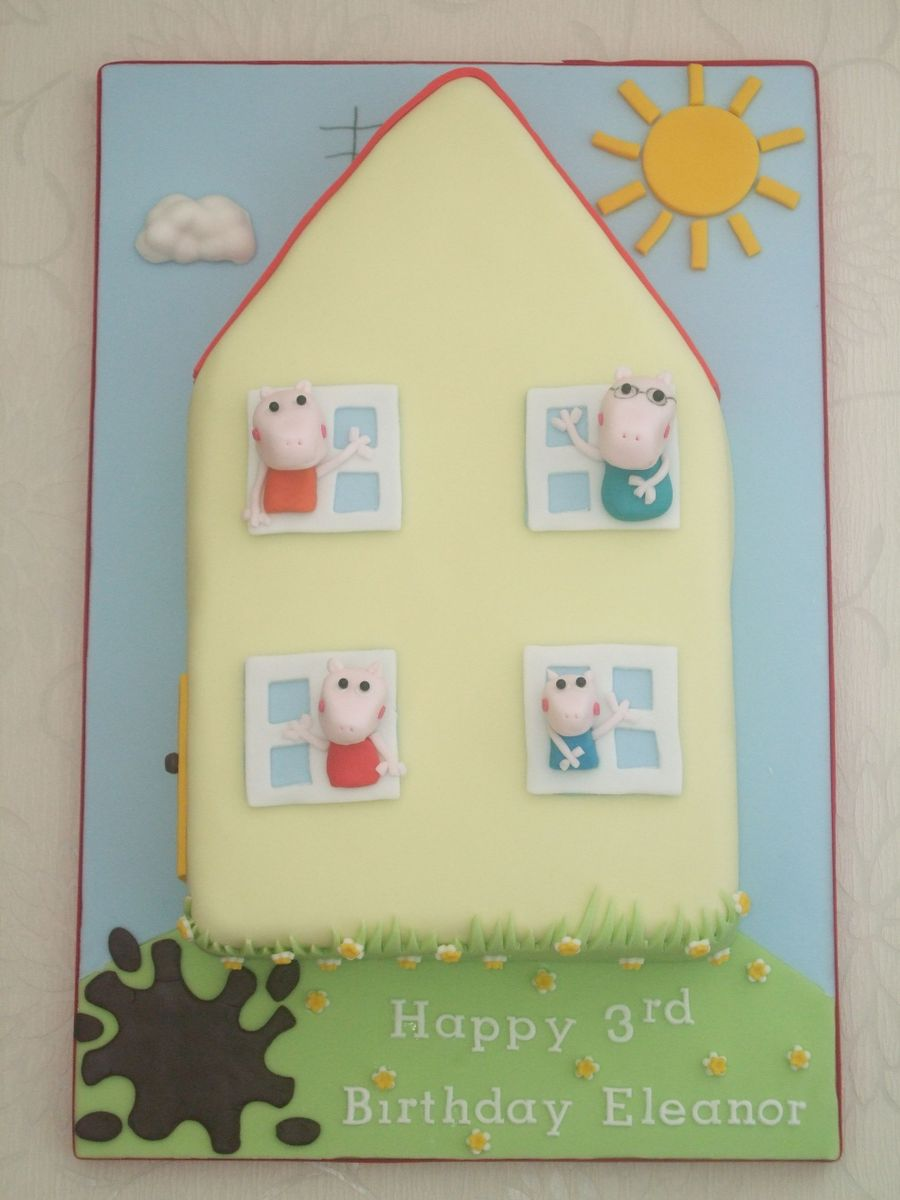 Peppa Pig House on Cake Central
