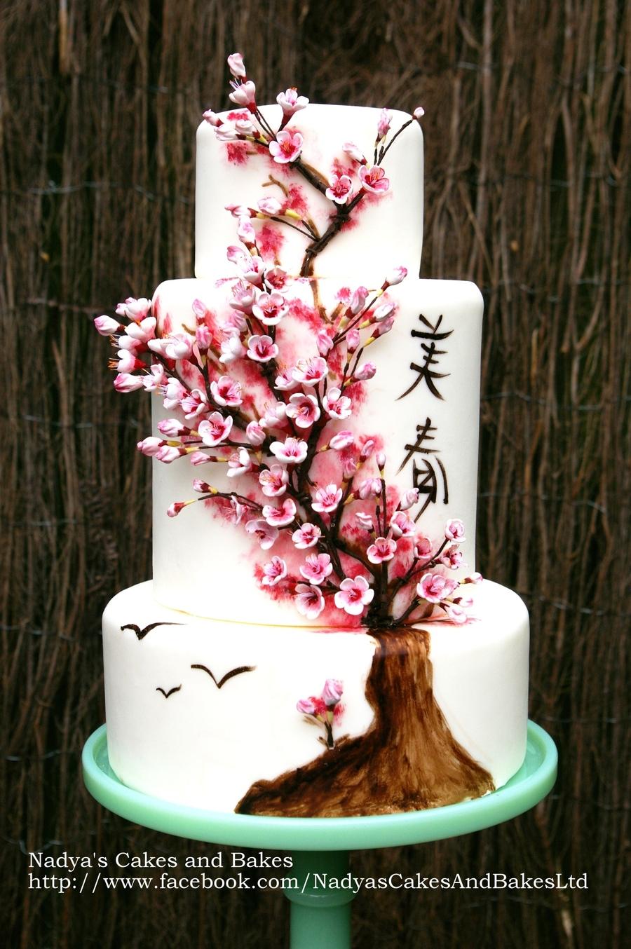 Japanese Cherry Blossom Cake Spring 036 Cakecentral Com