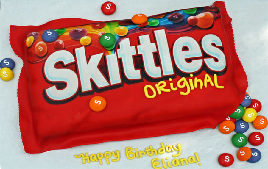 Swell Skittles Birthday Cake Cakecentral Com Funny Birthday Cards Online Barepcheapnameinfo