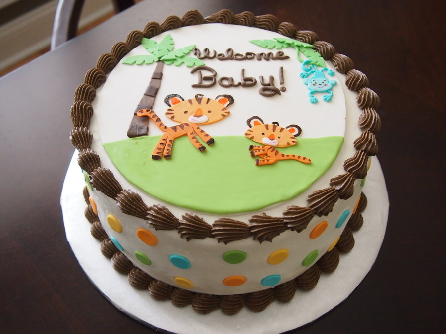 Cake Baby Shower Safari : Fisher Price Rainforest Jungle Safari Baby Shower Cake ...