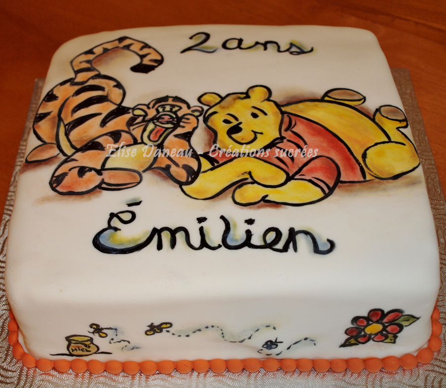 Winnie The Pooh In A Tattoo Style on Cake Central