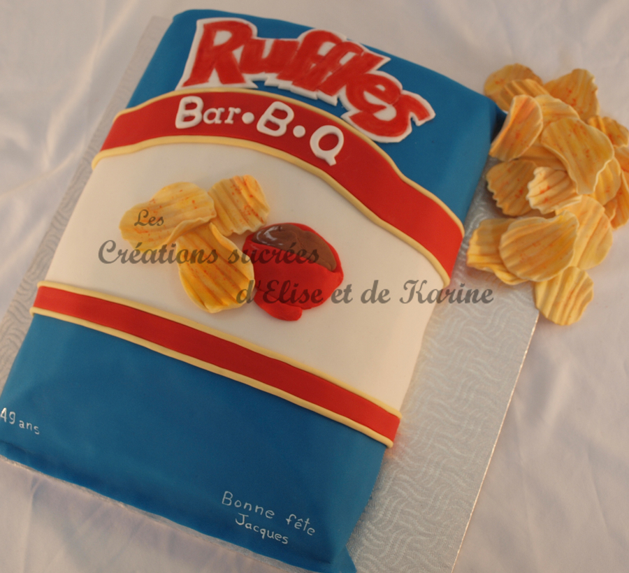 Ruffles Chips Bag on Cake Central