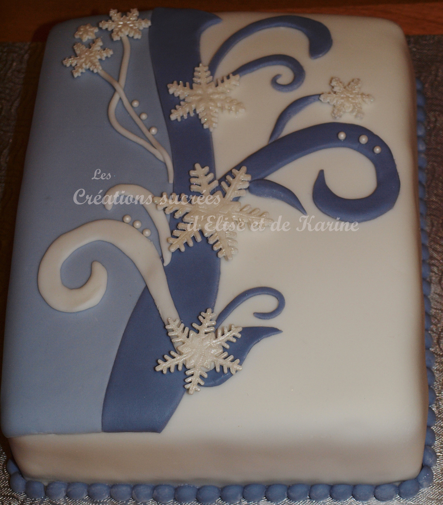 Snowflakes Bouquet  on Cake Central
