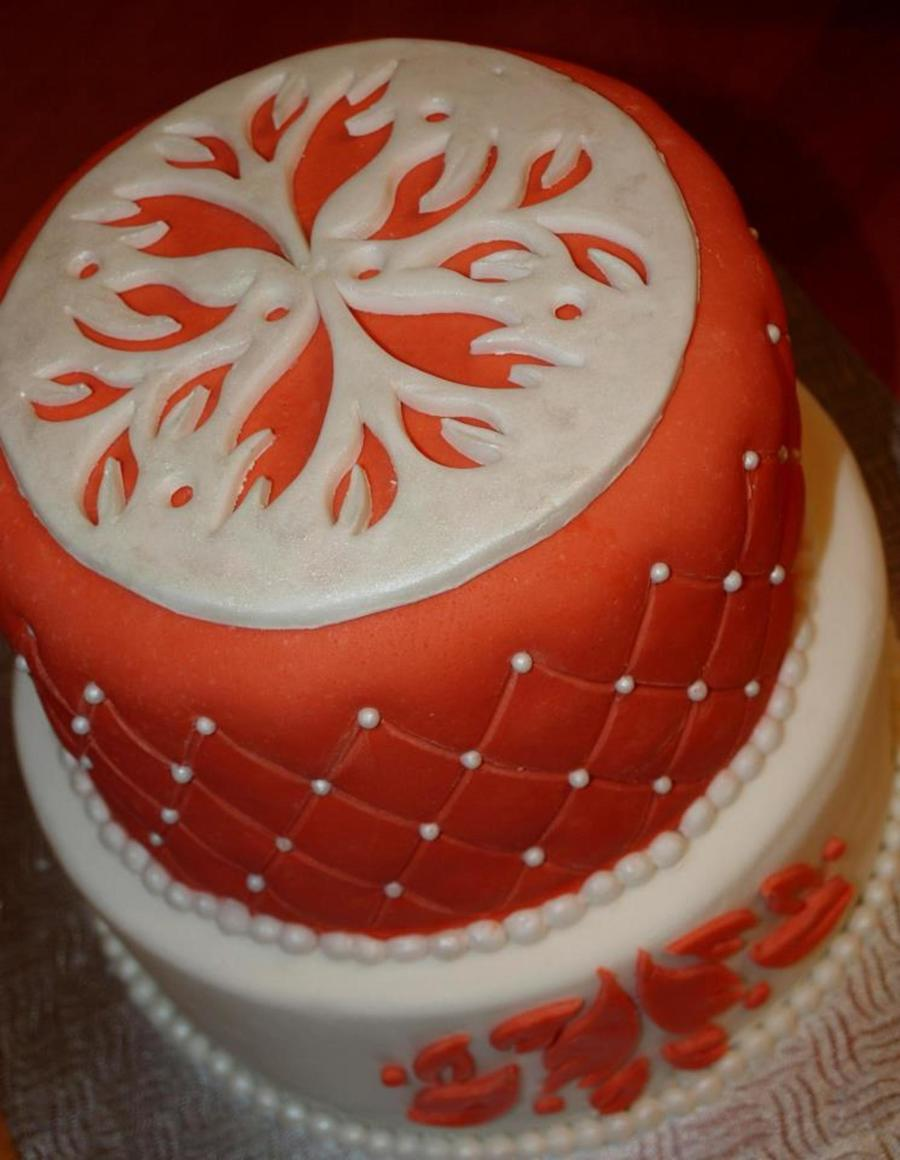 Orange Arabesque Cake on Cake Central