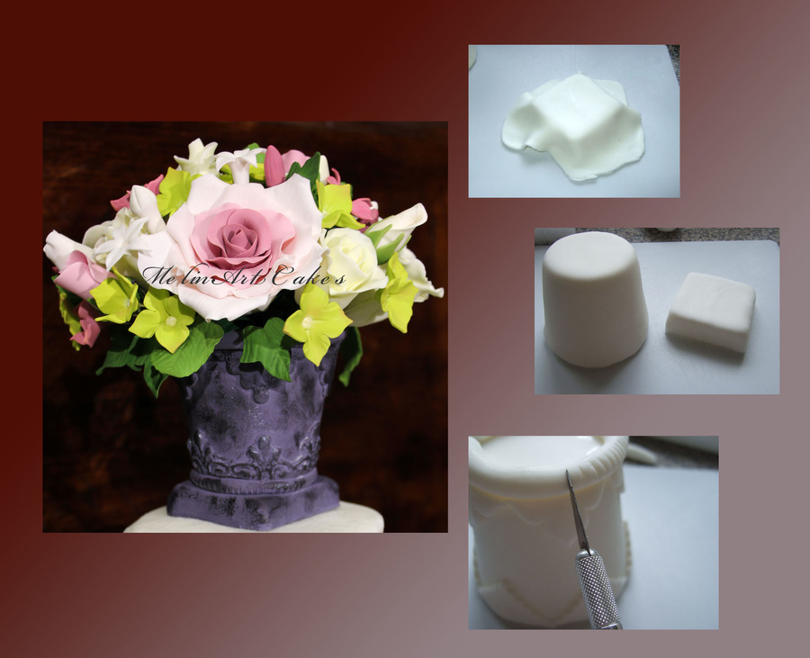Tutorial_ Gumpaste Vase on Cake Central