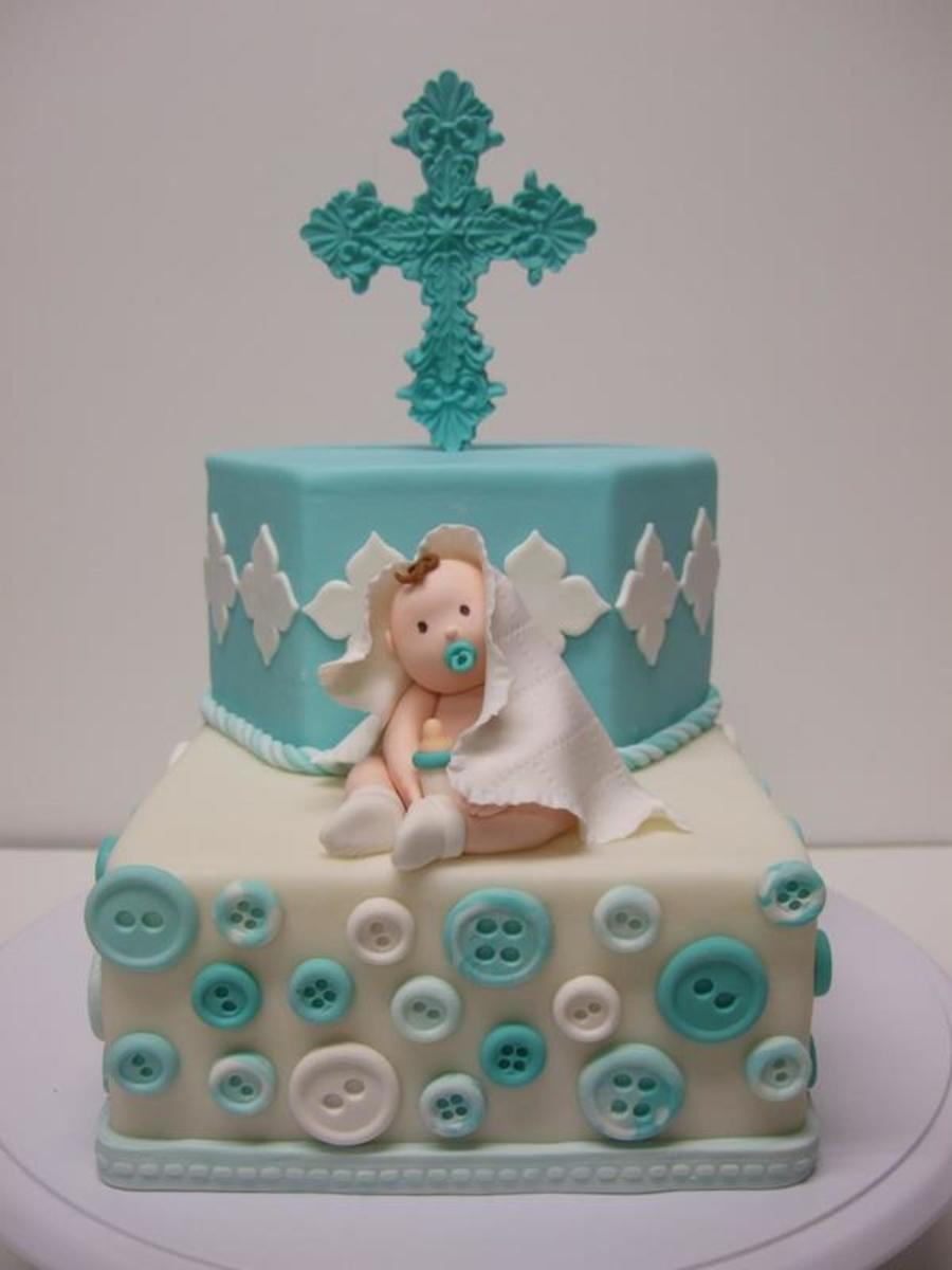 Baby Boy Baptism Cake on Cake Central
