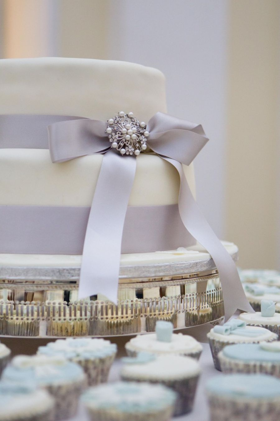 Wedding Cake And Cupcakes on Cake Central
