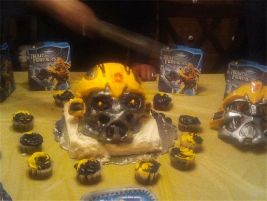 Transformers Bumblebee Head Cake on Cake Central