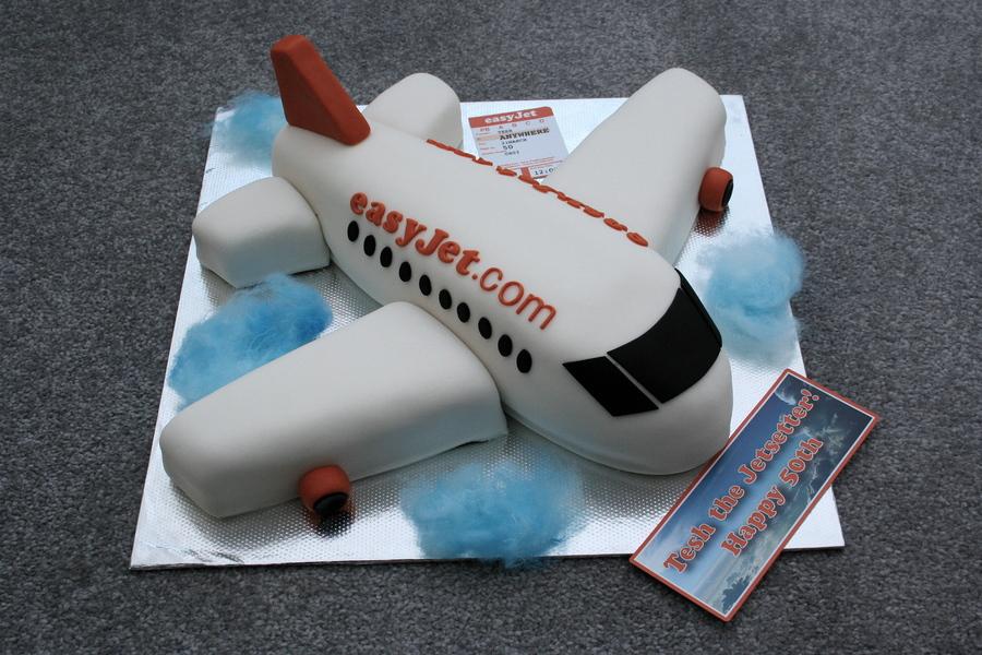 Birthday Cake On A Plane