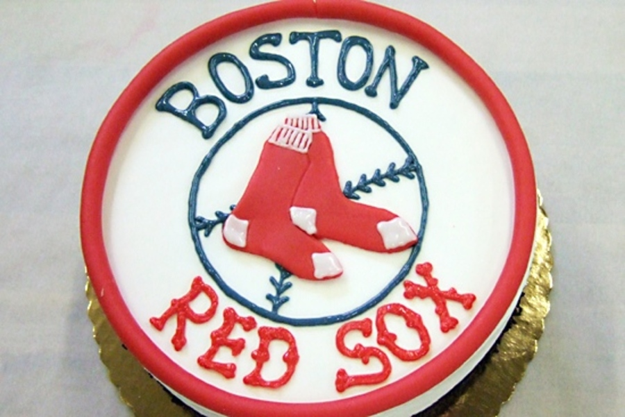 Red Sox Theme Cake on Cake Central