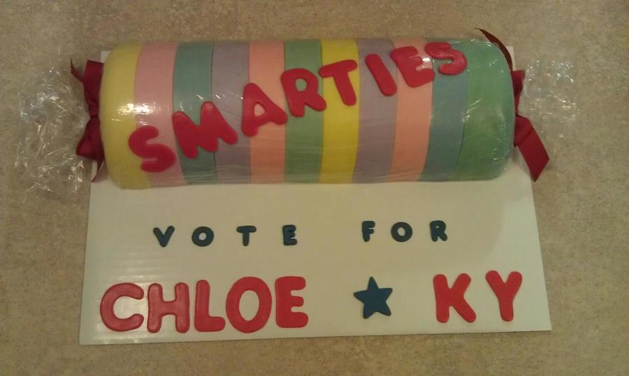 """smarties"" Vote For Chloe & Ky! =) on Cake Central"