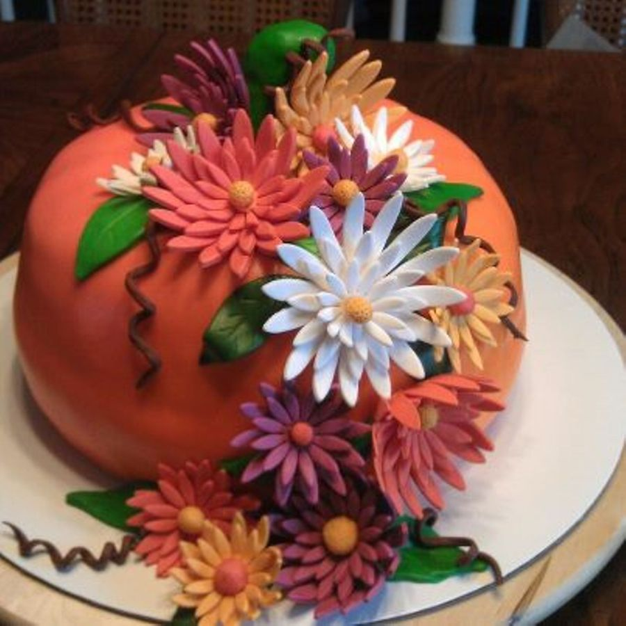 Pumpkin Harvest Cake.... on Cake Central