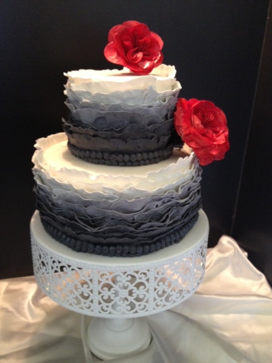 Ombre! Ruffle Cake on Cake Central