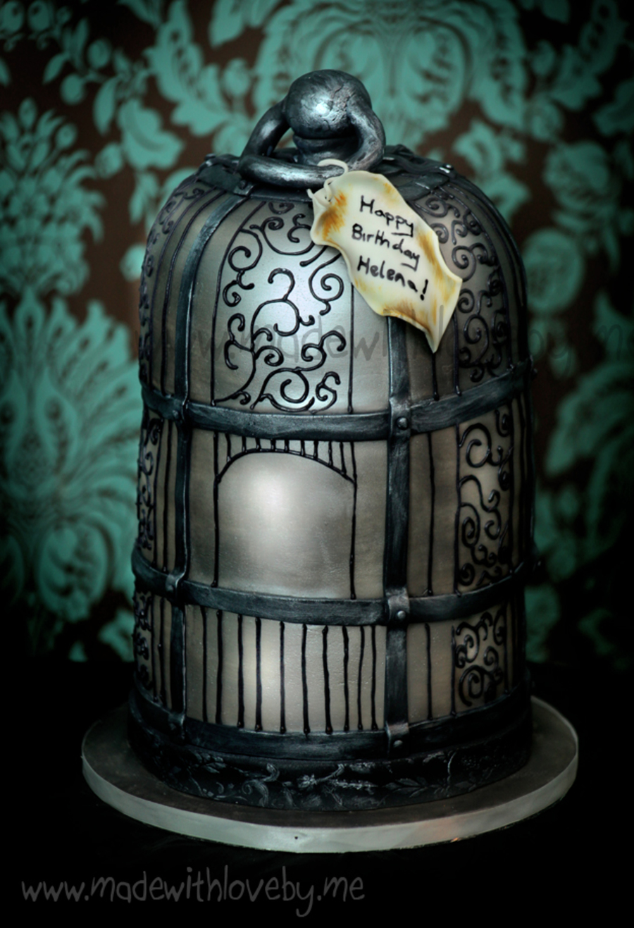 Antique Birdcage Cake Design All Hand Painted And Hand Piped on Cake Central