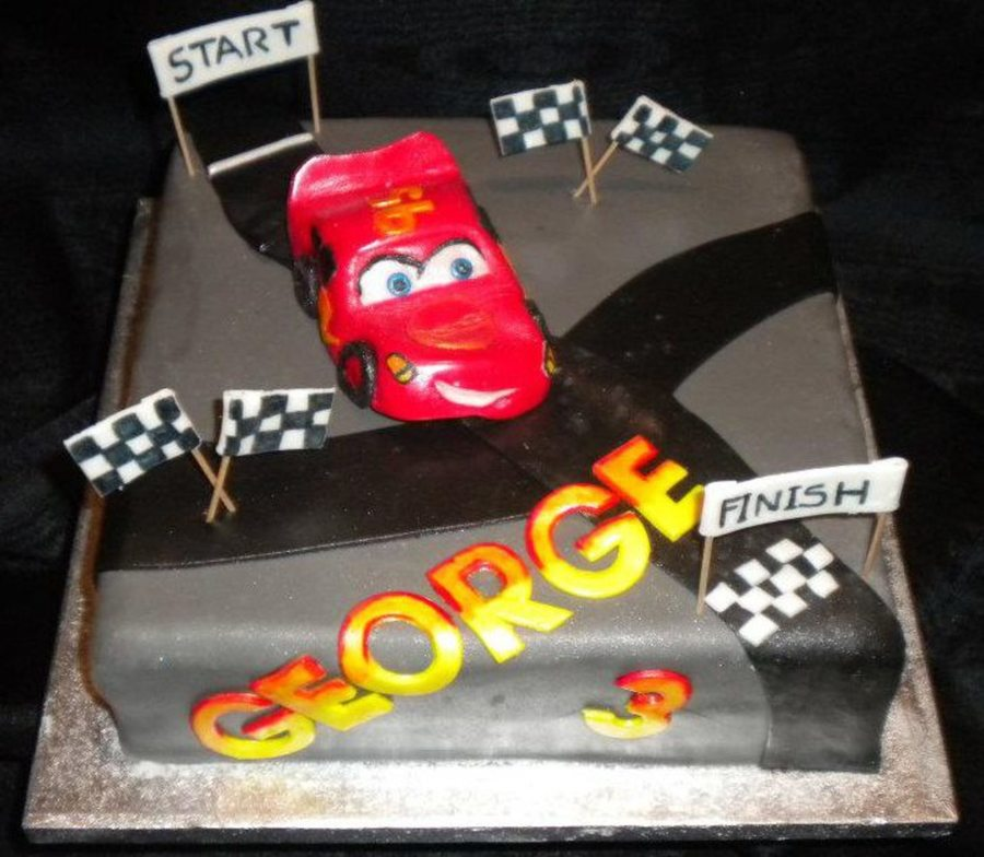 Cars Mcqueen Cake on Cake Central