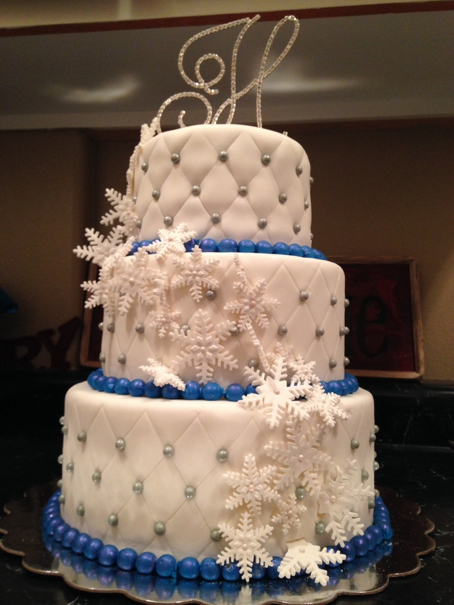 Winter Wonderland Wedding Cake Cakecentral Com