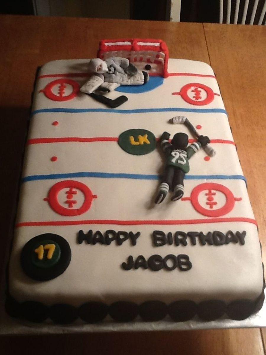 Hockey Themed Birthday Cake Celebrating His First Ontario