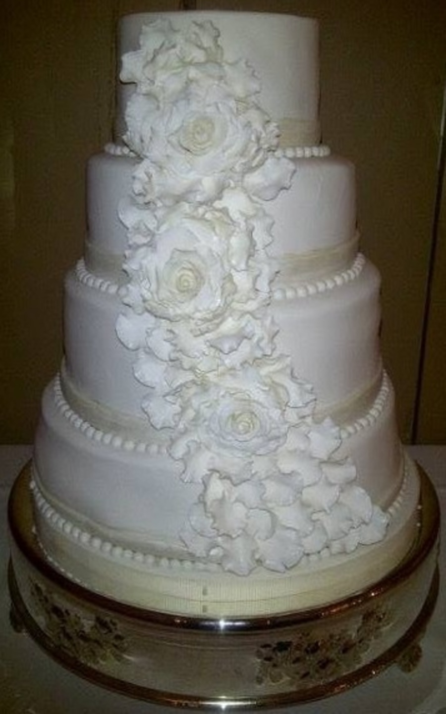 biggest tier wedding cake made this cake for my sons wedding and it is the largest 11741