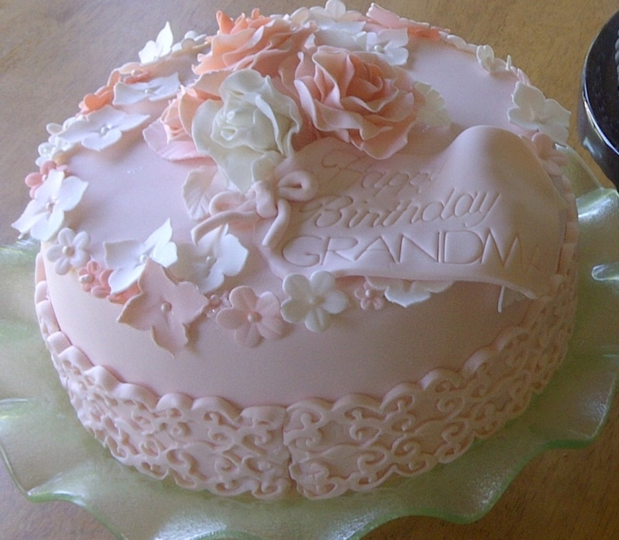 Birthday Cake For My Mother In Law Strawberry Cake With White