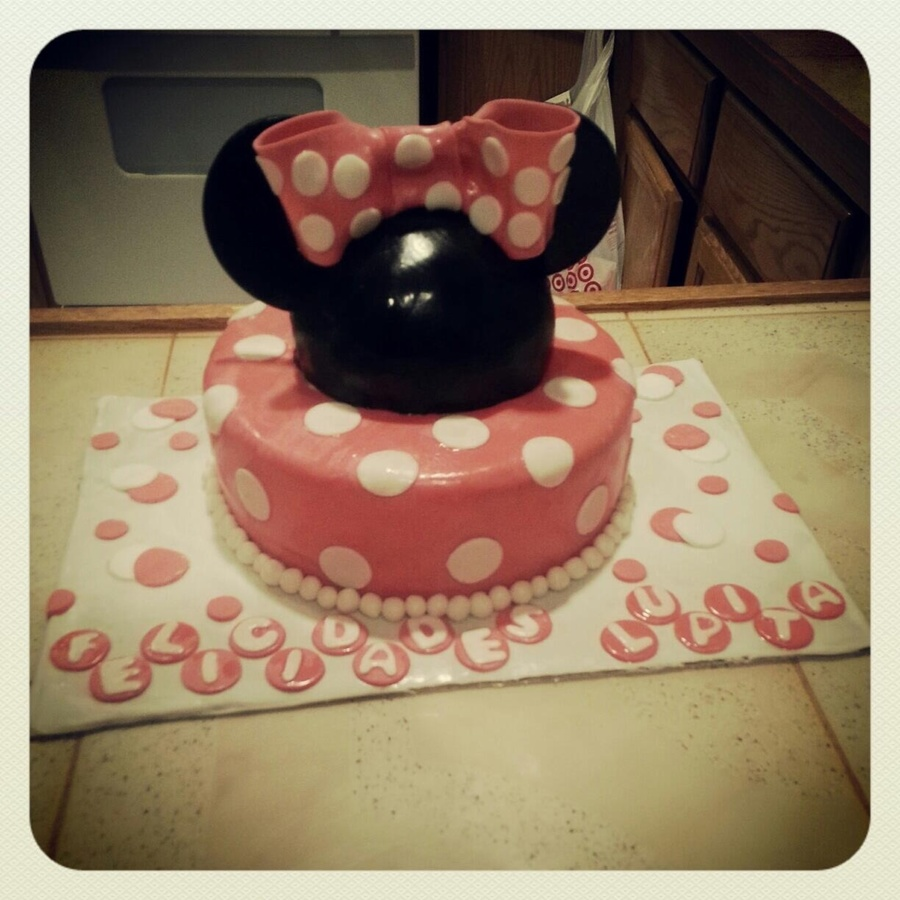 Minnie Mouse Fondant Cake on Cake Central