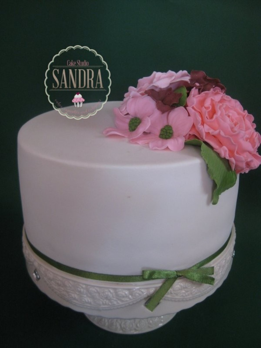 One Simple Wedding Cake on Cake Central