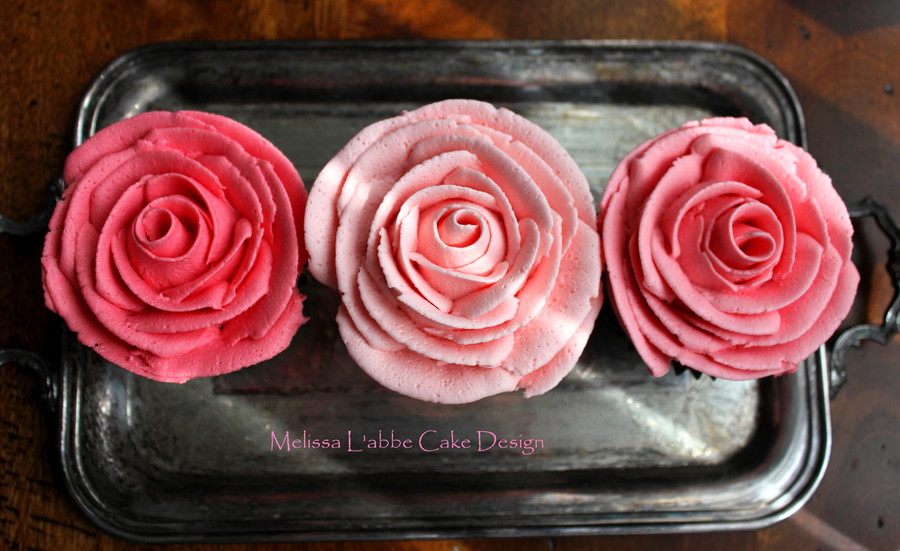 Rose Top Buttercream Cupcakes on Cake Central