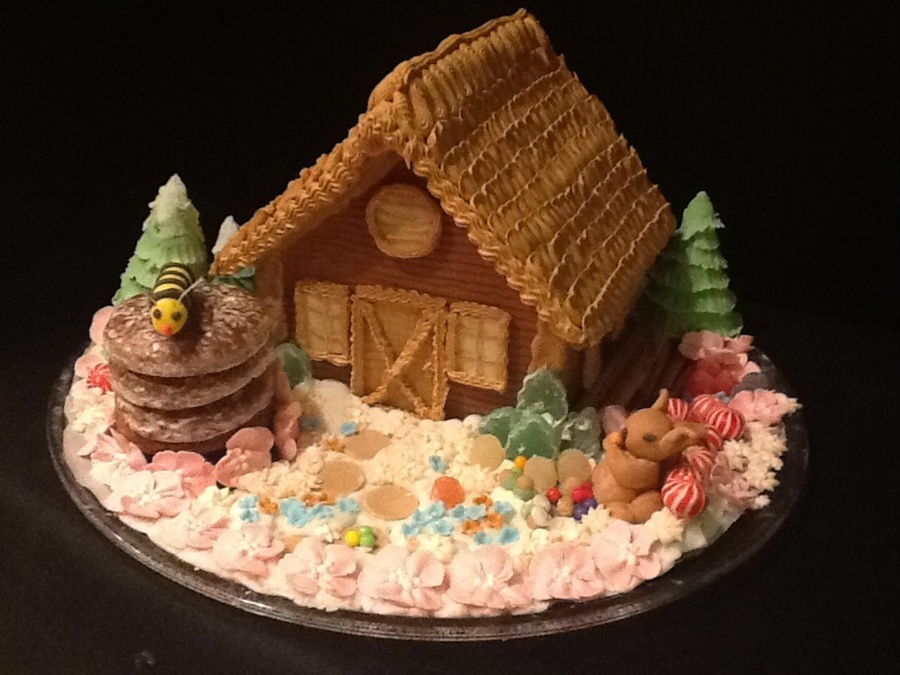 First Gingerbread House I Got Carried Away on Cake Central