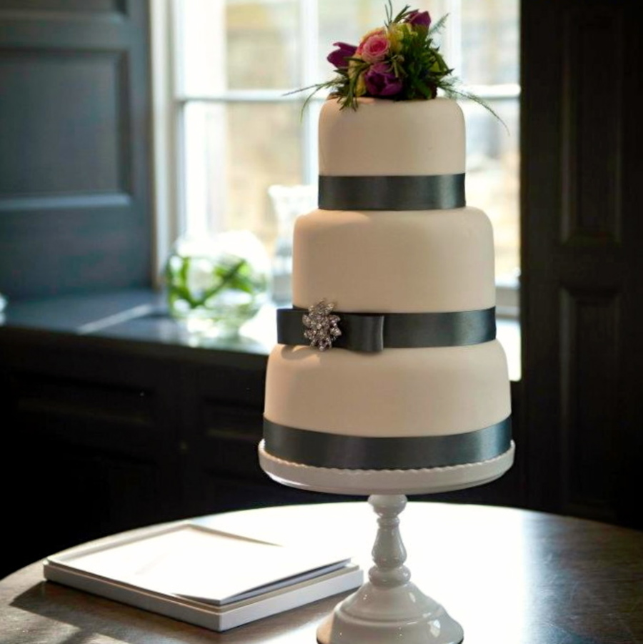Classic & Simple Wedding Cake  on Cake Central